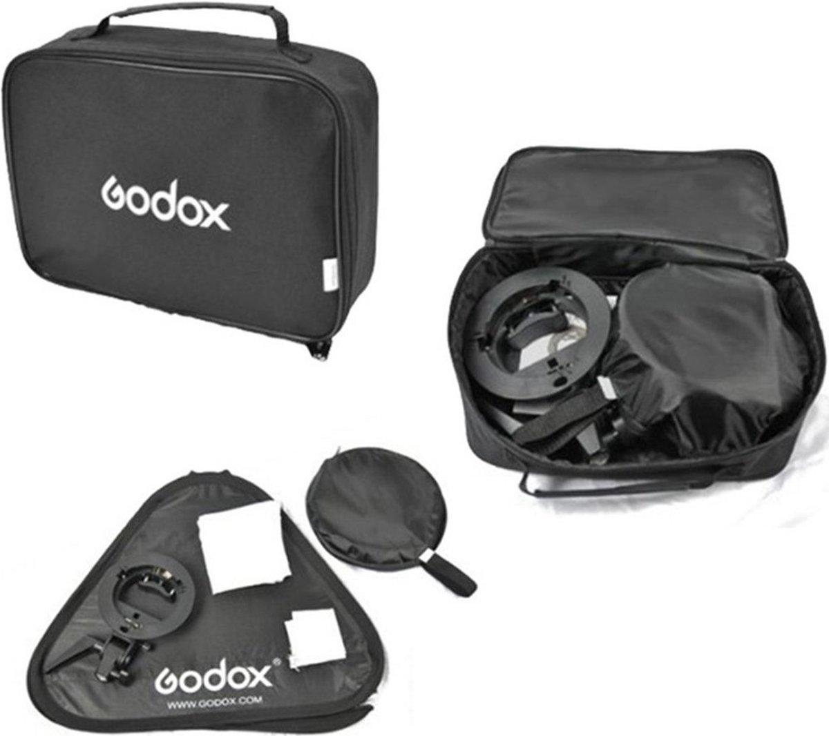 Godox S-bracket Bowens + Softbox 40x40cm + Grid kopen
