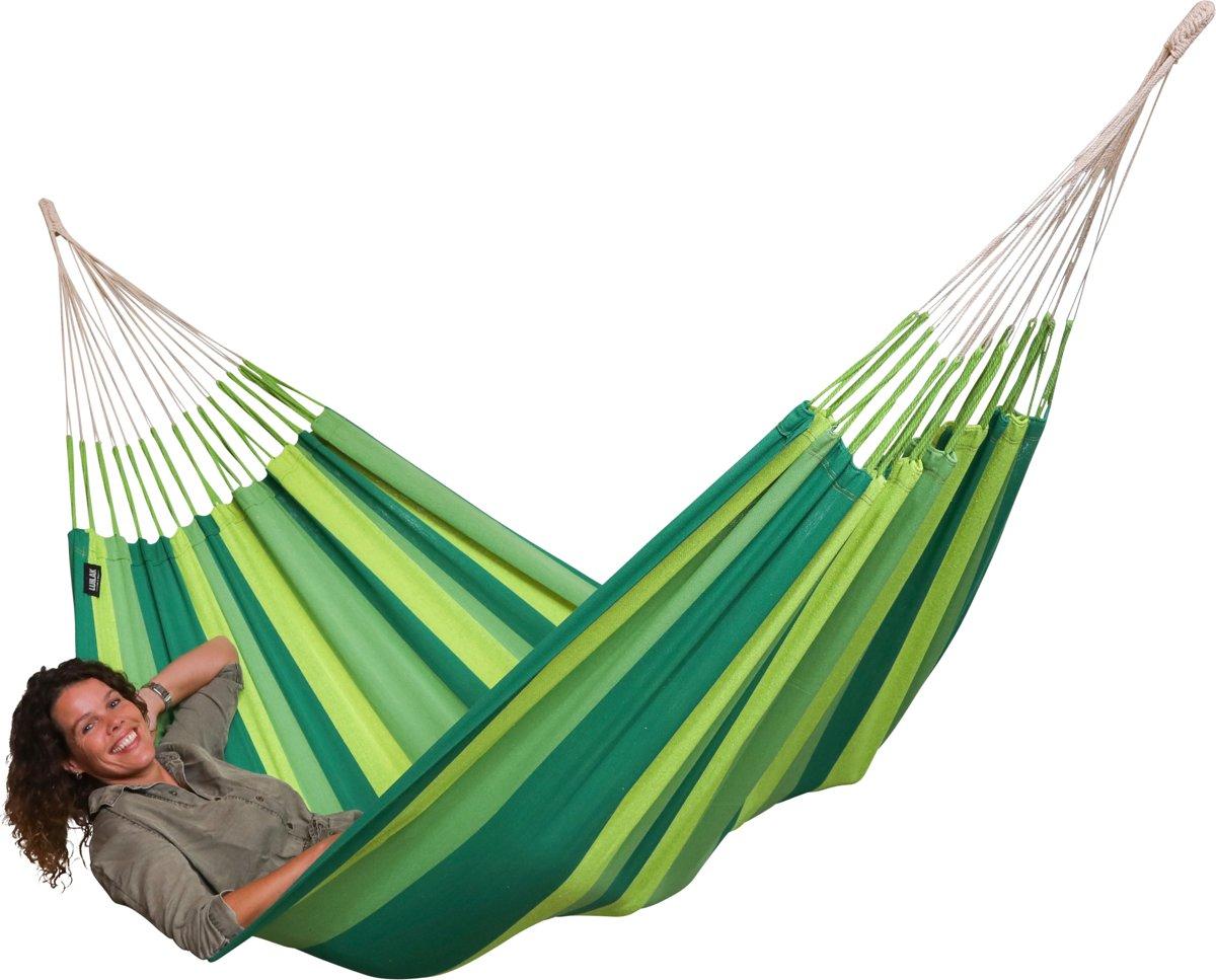 """Hangmat """"El Clasico Verde"""" compleet met bevestigingsset """"Makkie"""""""