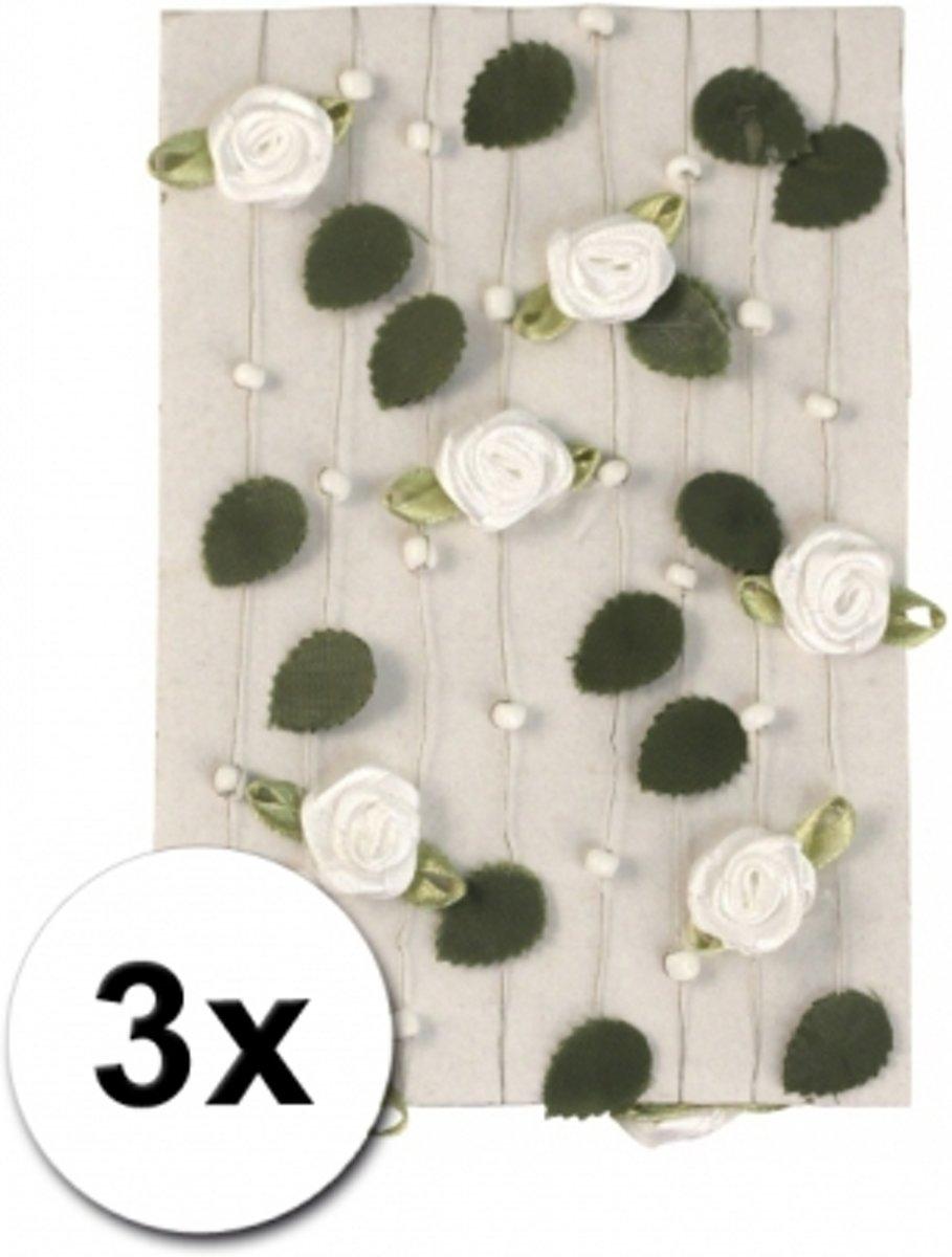 3 witte rozen slingers 2 meter - huwelijk / bruiloft kopen