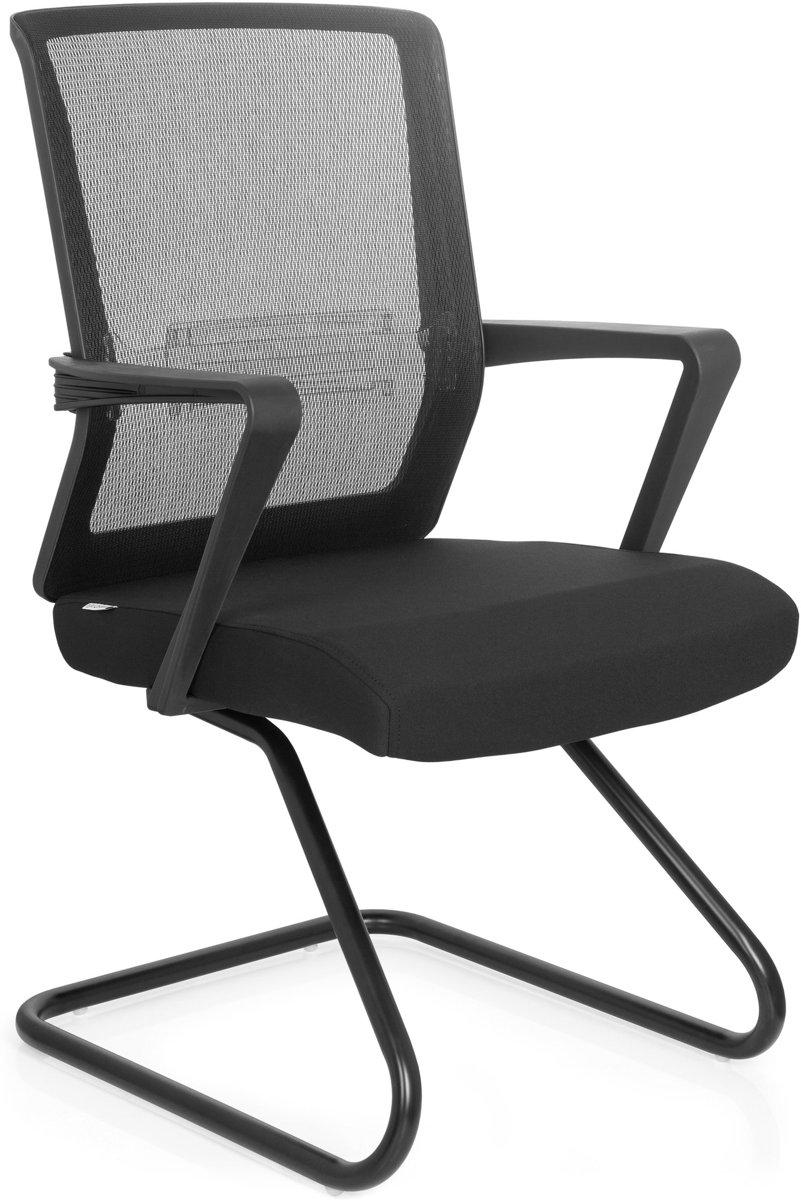 hjh office Carlton V - Bureaustoel - Vergaderstoel - Stof - 2 pack - Zwart kopen
