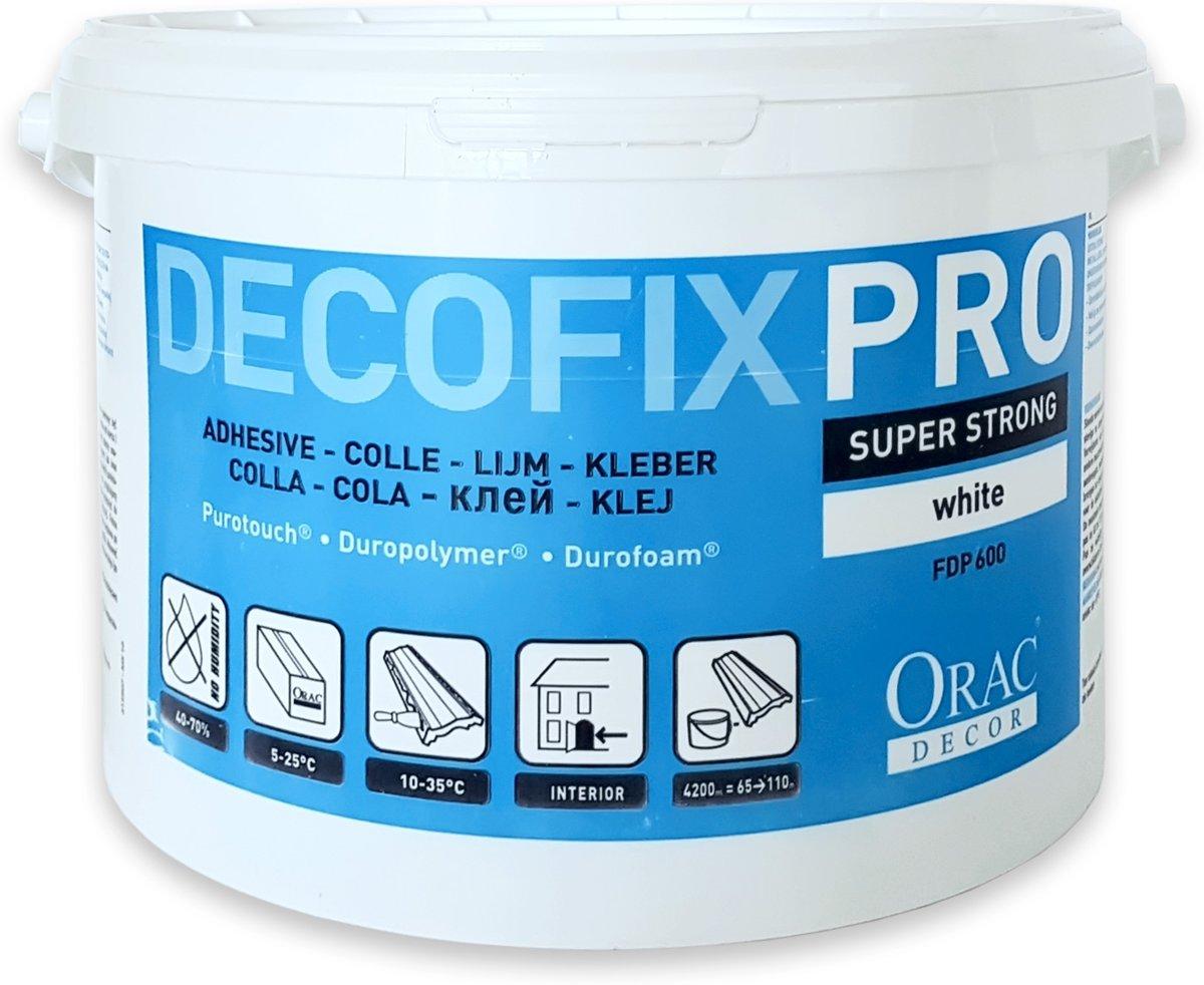 DecoFix Pro Orac Decor FDP600 extra sterke installatielijm voor binnenshuis acryllijm op waterbasis 4.2 liters 6.4 kg kopen