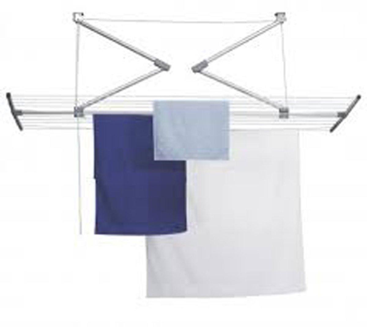 Ruimtebesparend Plafond Droogrek - 7 stangen elk 160 cm lang. kopen