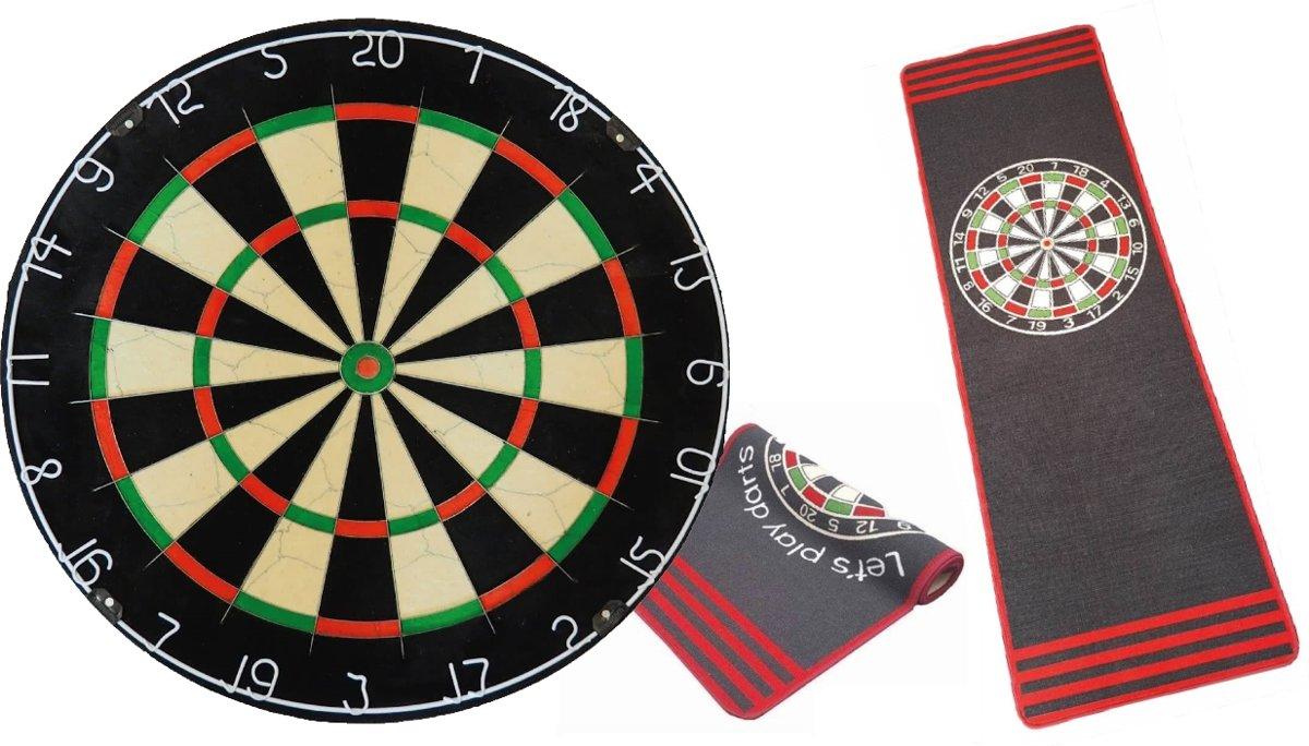 Plain Blade 5 - dartbord - inclusief brede antraciet - dartmat kopen