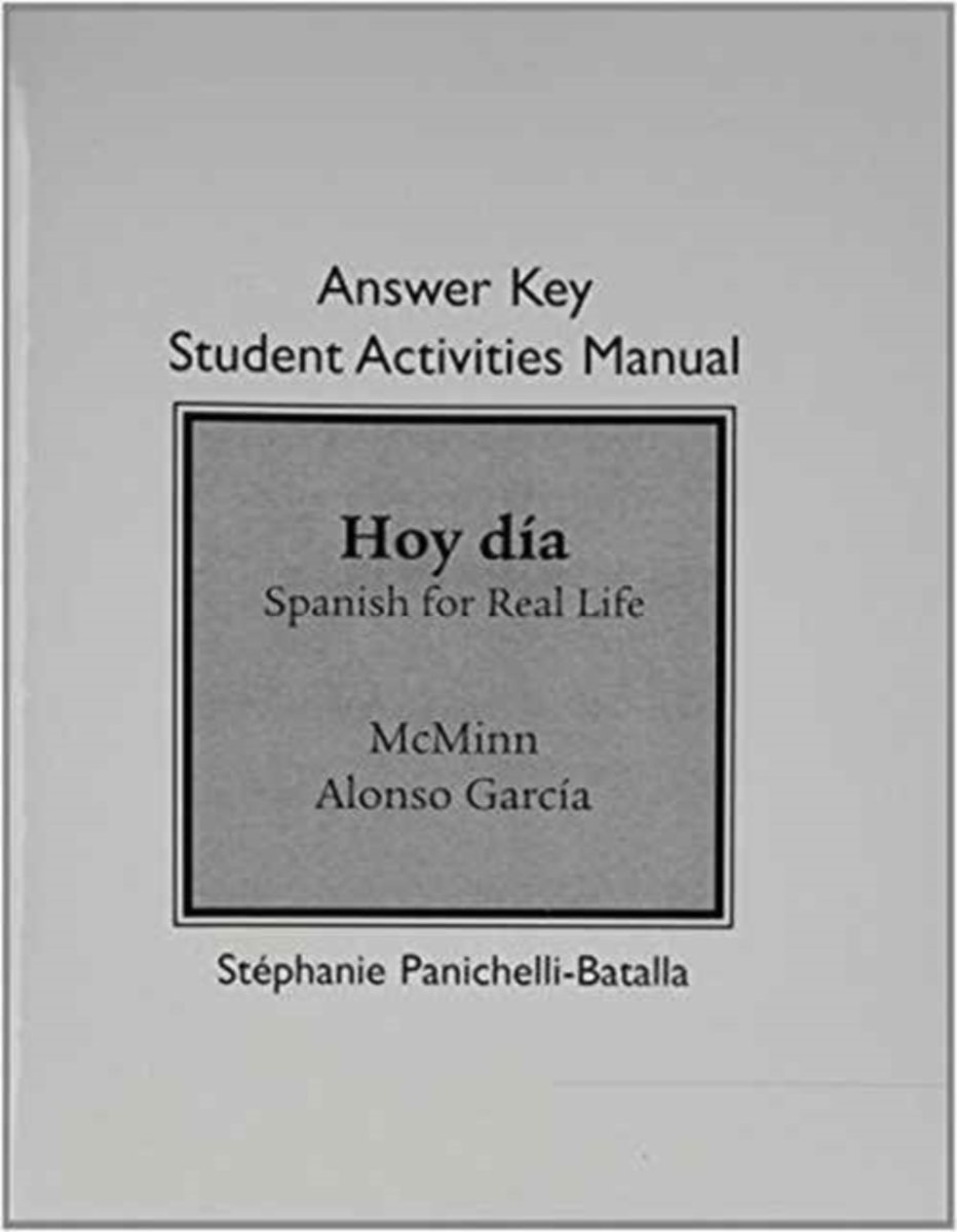 bol.com   Answer Key for Student Activities Manual for Hoy dia    9780205769841   John T. Mcminn.