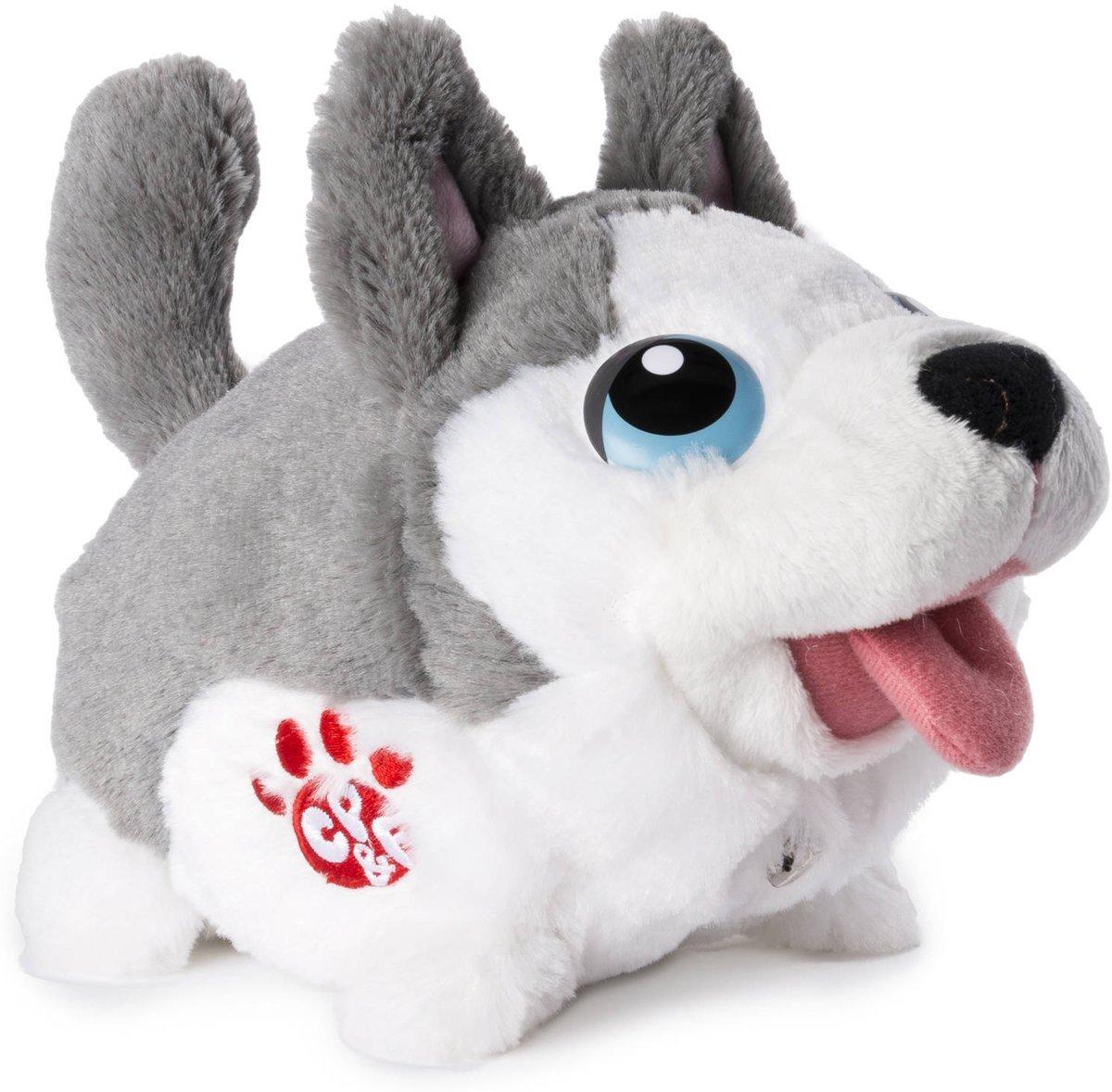 Chubby Puppies en vrienden stuntelen knuffeldier - Husky