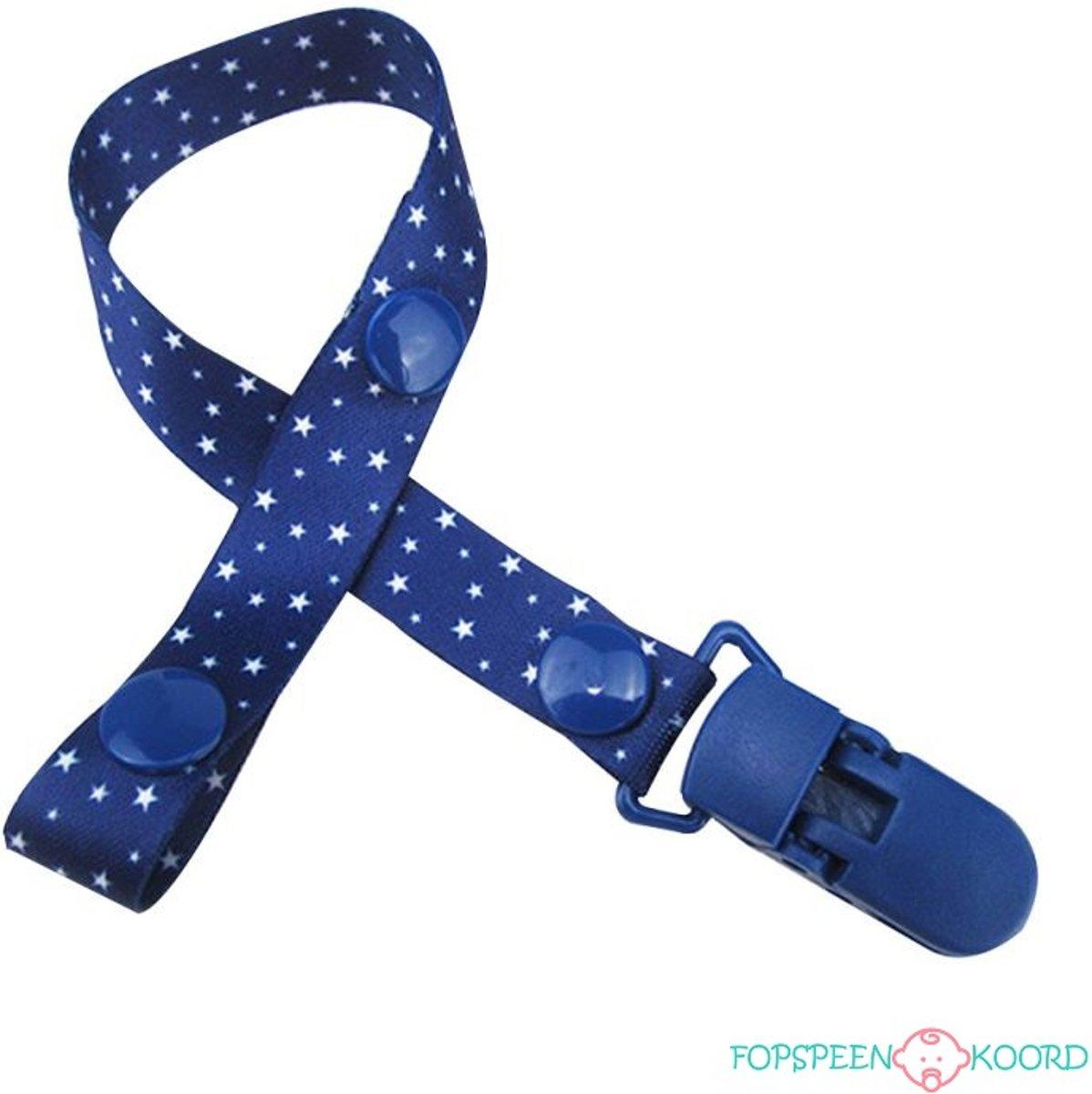 Fopspeenkoord blauw met witte sterren | Little Stars kopen