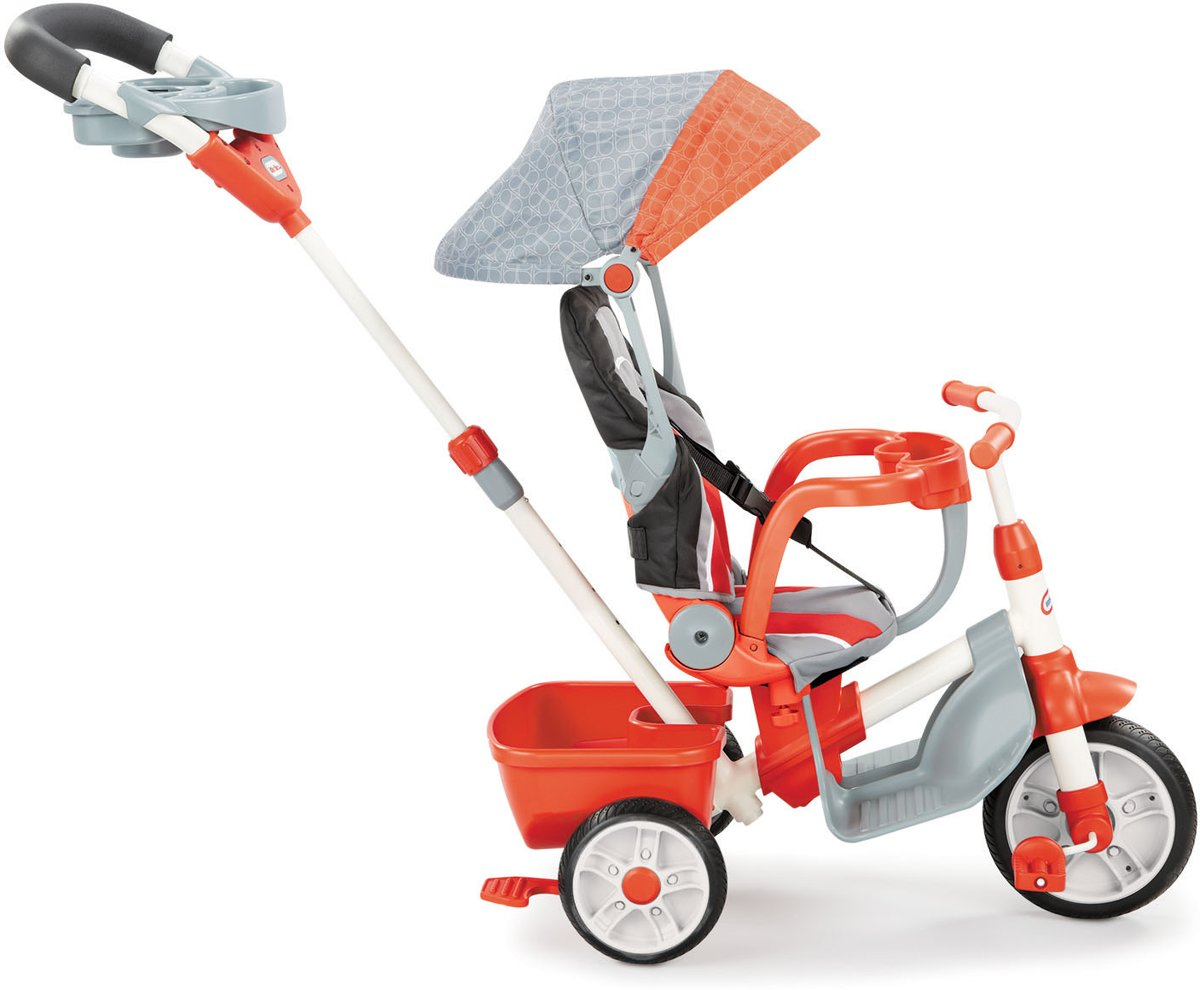 Little Tikes 4-in-1 Luxe Ride & Relax Rood - Driewieler