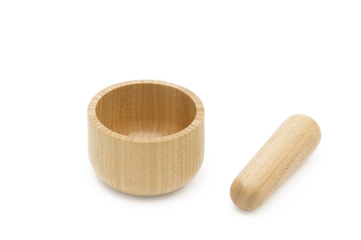 Pebbly Vijzel - Incl. Stamper - Bamboe - Bruin kopen