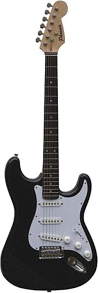 Phoenix Elektrische Gitaar Stratocaster Model Zwart/wit