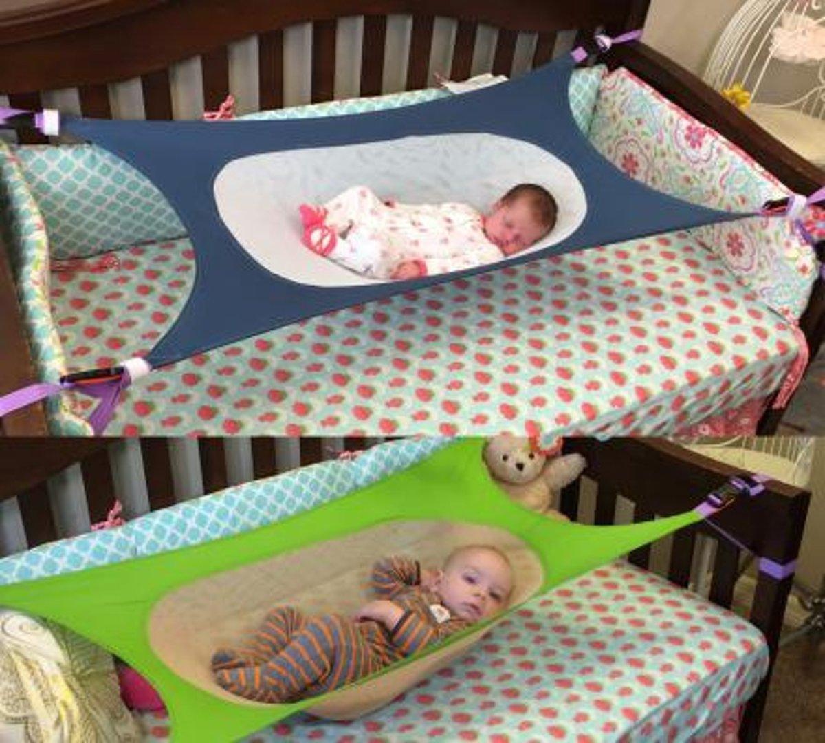 Hangmat In Box.Baby Hangmat Grijs Wit Elastisch Voor In De Box Of Bedje