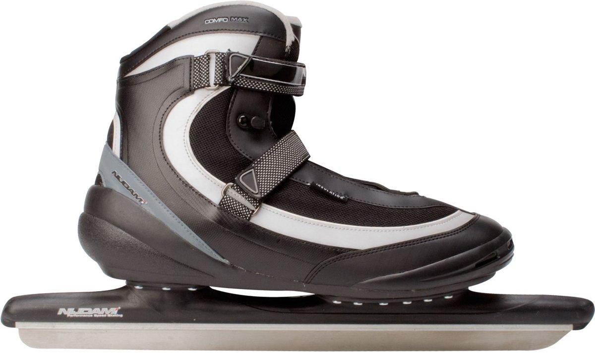 Nijdam Schaatsen - Maat 50 - Unisex - zwart/grijs