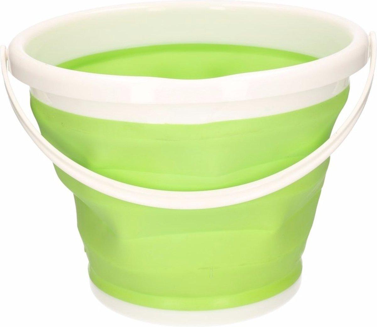 Opvouwbare emmer groen 10 liter kopen