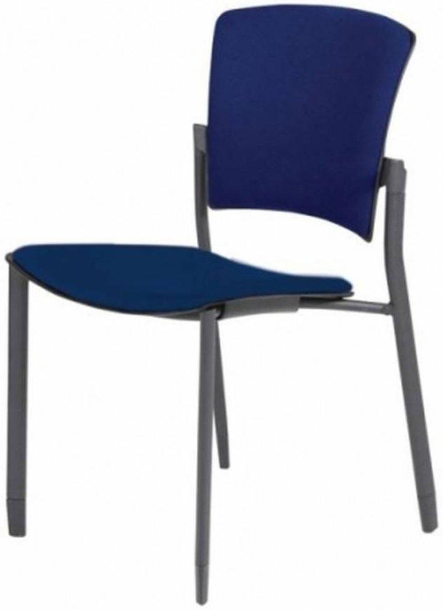 Vergaderstoel - Schaffenburg 031 4-poots z/a blauw stof blauw stof kopen