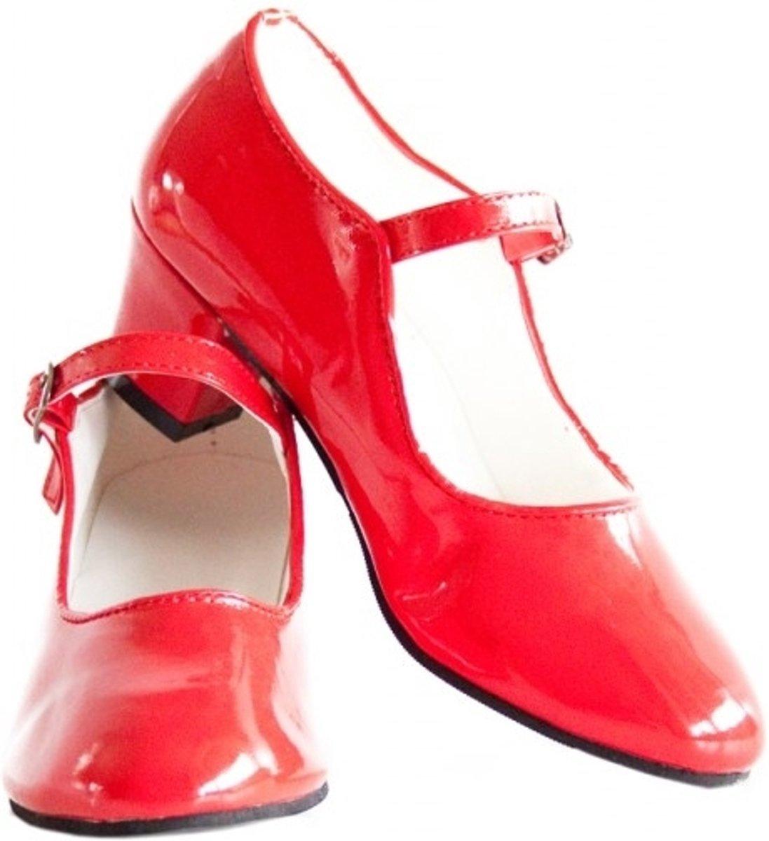 Spaanse Prinsessen Schoenen Rood Lak Maat 26 Binnenmaat 18 Cm
