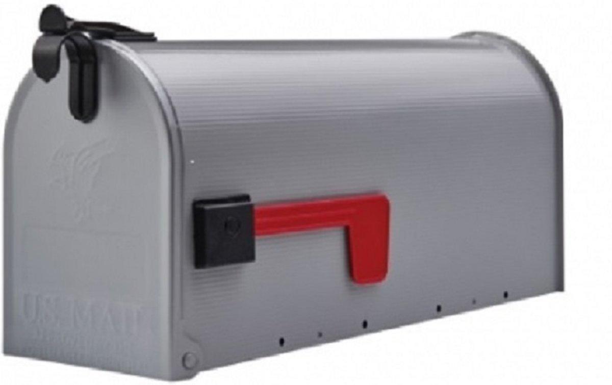 Amerikaanse brievenbus / US Mailbox , grijs, gegalvaniseerd staal
