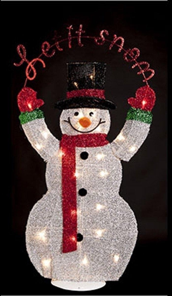 Bolcom Sneeuwpop Met Led Verlichting 82 Cm