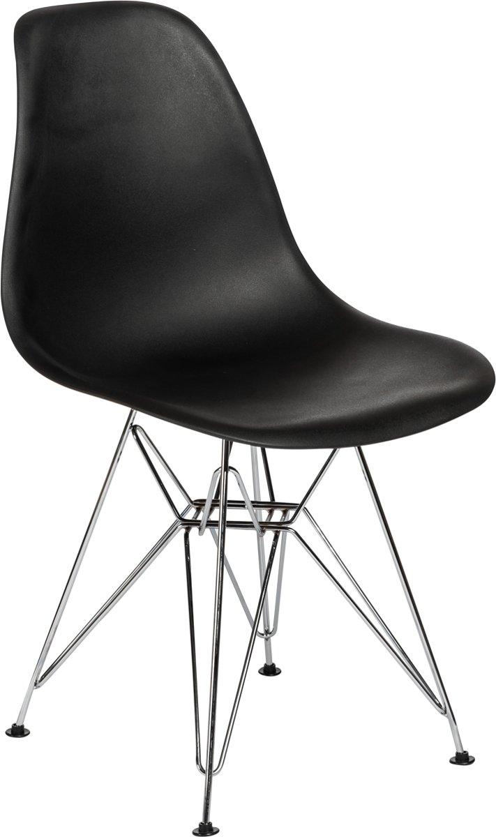 Eames Stoel Replica.Bol Com Eames Dsr Stoel Replica Zwart Kuipstoel Set Van 4