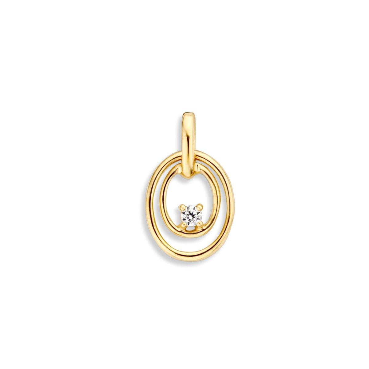 Hanger geelgoud zirkonia HH126180 kopen