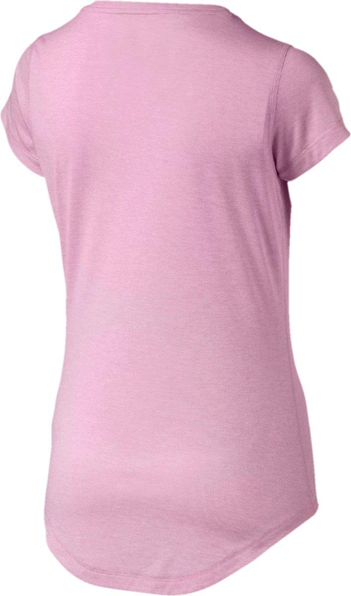 PUMA Heather Cat Tee Sportshirt Dames Pale Pink Heather