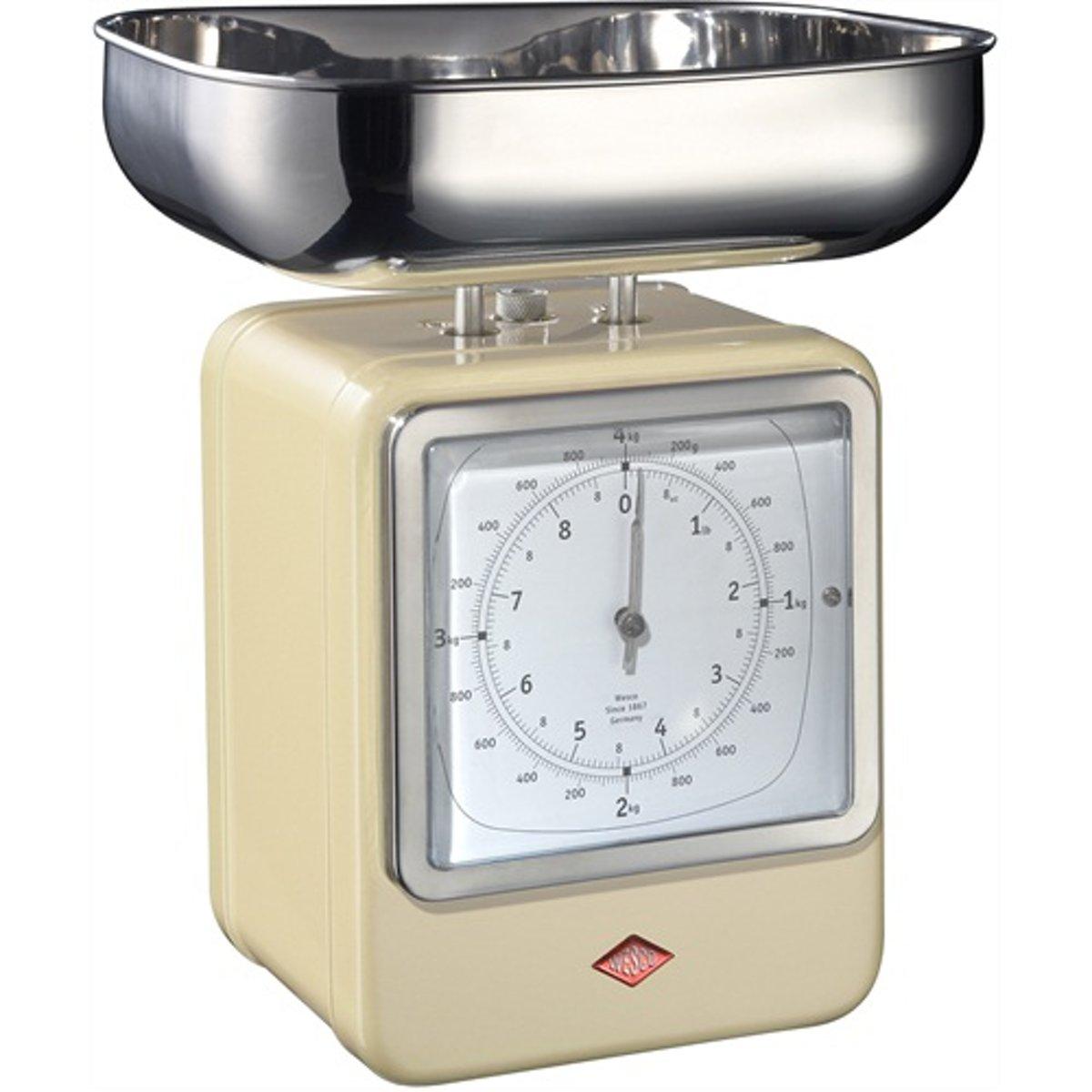 Wesco Keukenweegschaal met klok Amandel