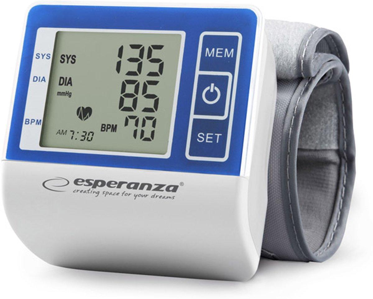 Bloeddrukmeter Pols en Systolisch, Diastolisch Hartslagmeter met 90x geheugen, Automatisch Opblaasfunctie