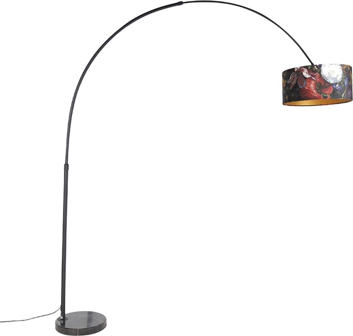 QAZQA xxl fl - Vloerlamp met lampenkap - 1 lichts - H 2250 mm - Multicolor kopen