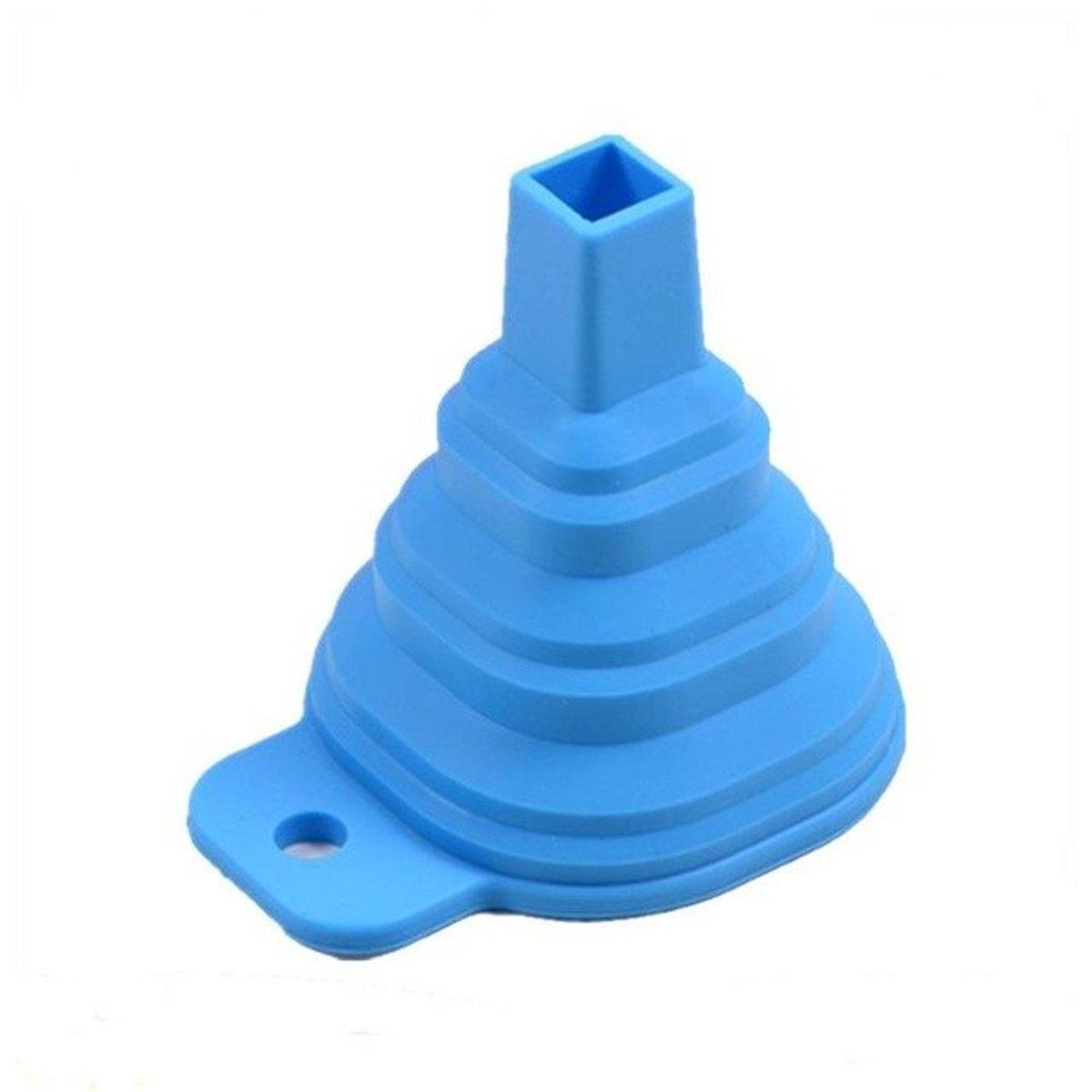 2 stuks Flexibele inklapbare trechters - blauw - aqua kopen