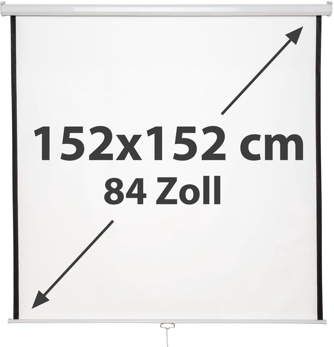 TecTake -  beamerscherm 84 inch - oprolbaar - 402081 kopen