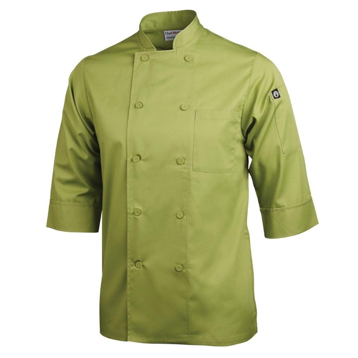 Chef Works gekleurde koksbuis 3/4 mouw limoen Maat XL kopen