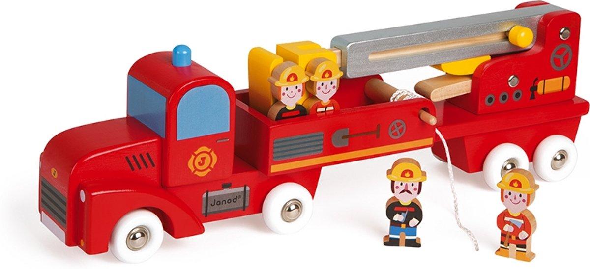 Janod Vrachtwagen - brandweer 4 brandweermannen
