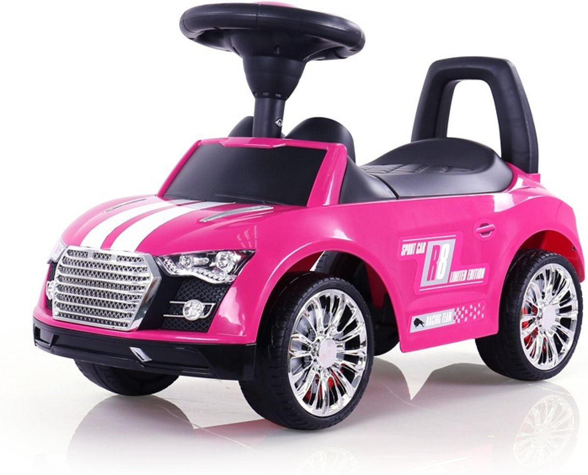 Milly Mally Loopfiets Raceauto Junior Roze