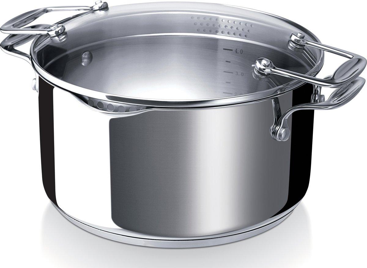 BEKA Chef Pratique Kookpot Met Afgietdeksel - Inox - 5L