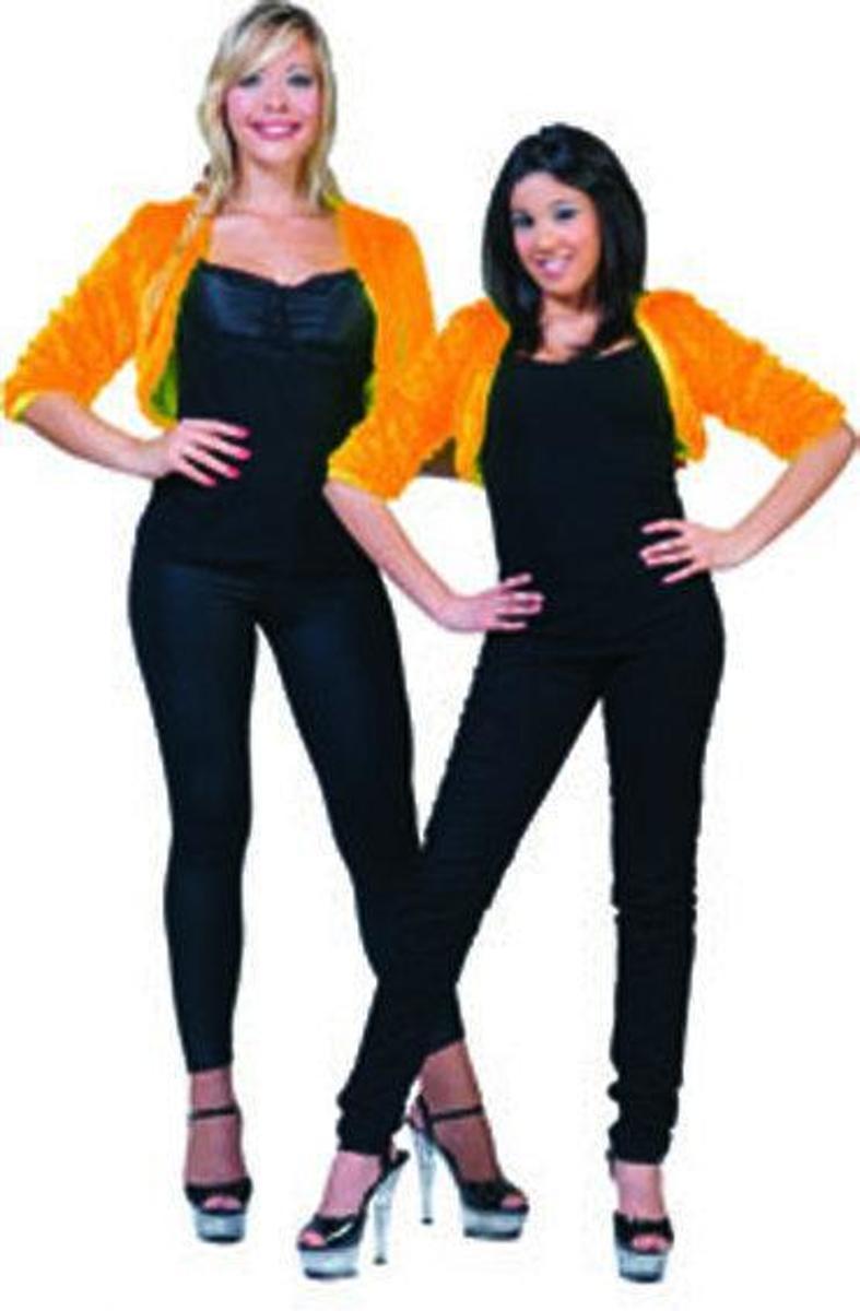 Halloween carnaval Bontje Oranje Fuzzy bolero orange