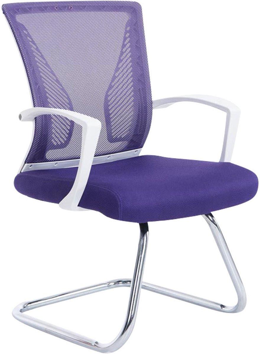 Clp Moderne bezoekersstoel BONNIE vergaderstoel, metalen cantilever met armleuning, netbekleding, belastbaar tot 130 kg - onderstel chroom, bekleding lila kopen