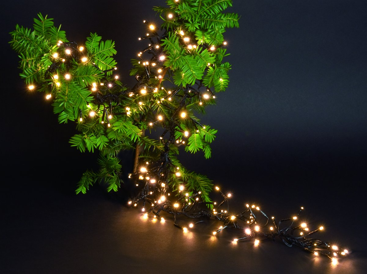 bol.com | CBD clusterverlichting 1152 LED -6,9 m Warm wit
