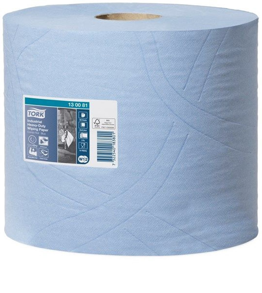 Tork Industrial Heavy-Duty Combi Rol Poetspapier 3-laags Blauw W1/W2 kopen