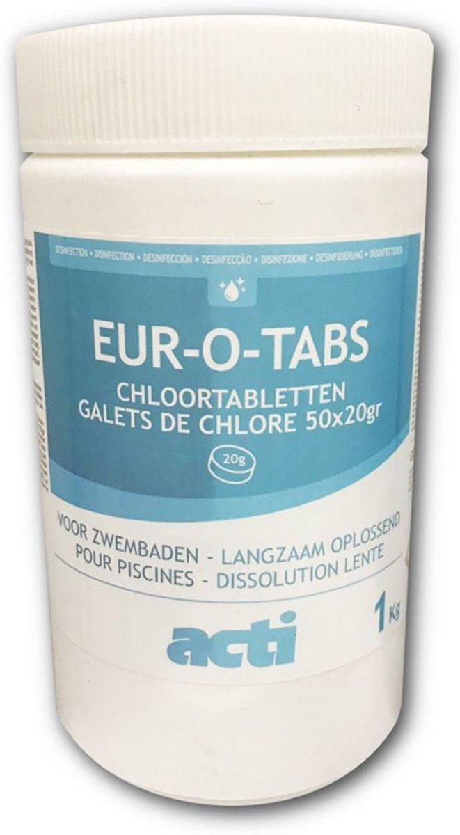 Pool Power Long Mini Flacon Desinfectie- en Anti-algmiddel voor Zwembaden - 500gr (Chloor tabletten 90% actief chloor)
