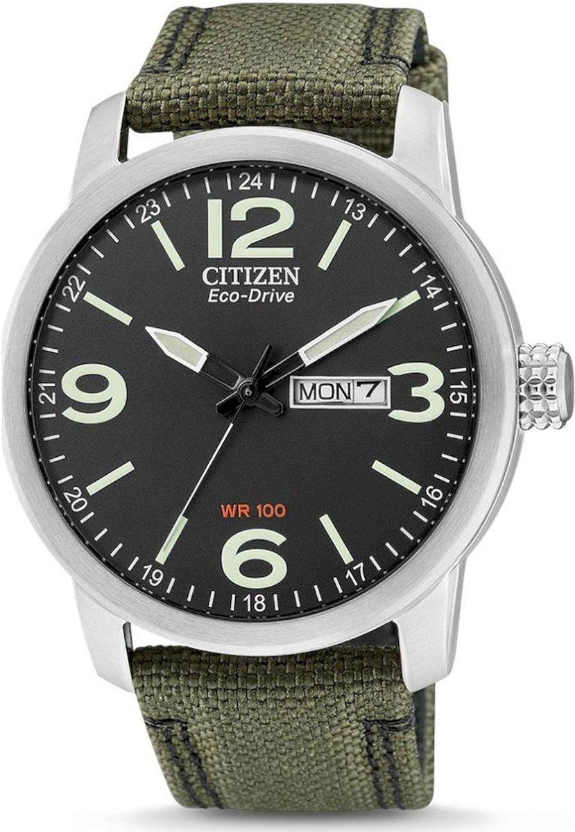 2358483db10d7f Citizen Eco-Drive - Horloge - 42 mm - Zilverkleurig   Zwart - Solar uurwerk