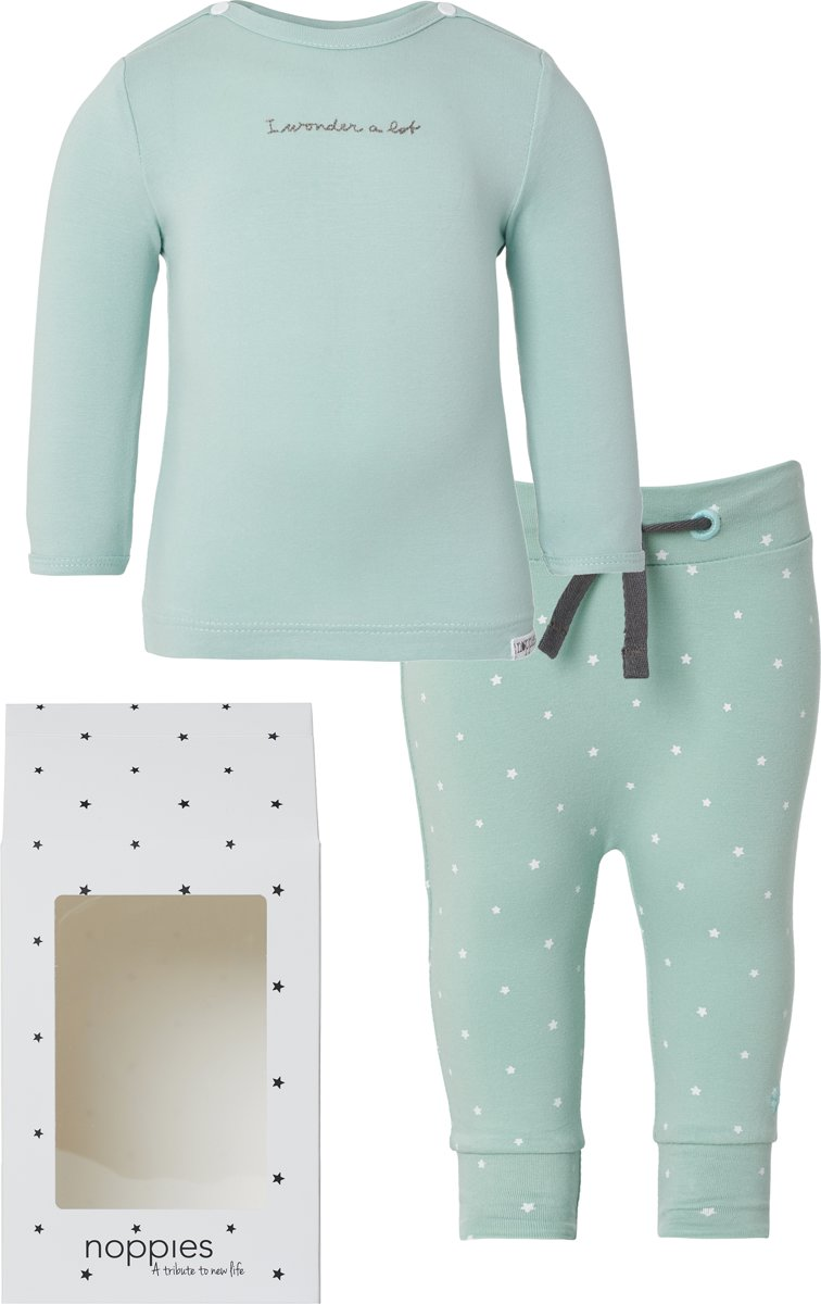 Noppies Giftset basic - Grey Mint - Maat 62