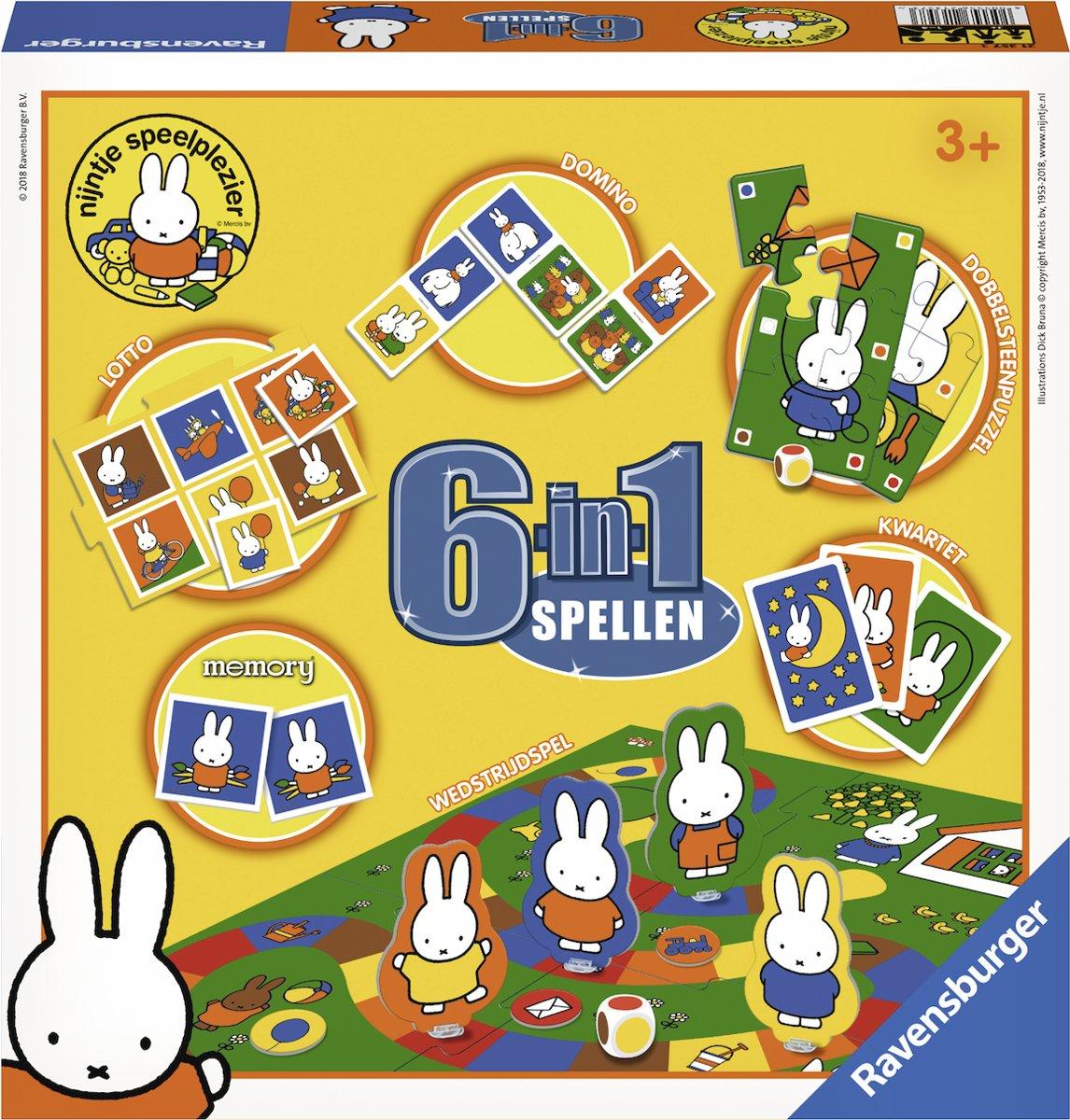 Spel 6 in 1 Nijntje o.a. memory/domino