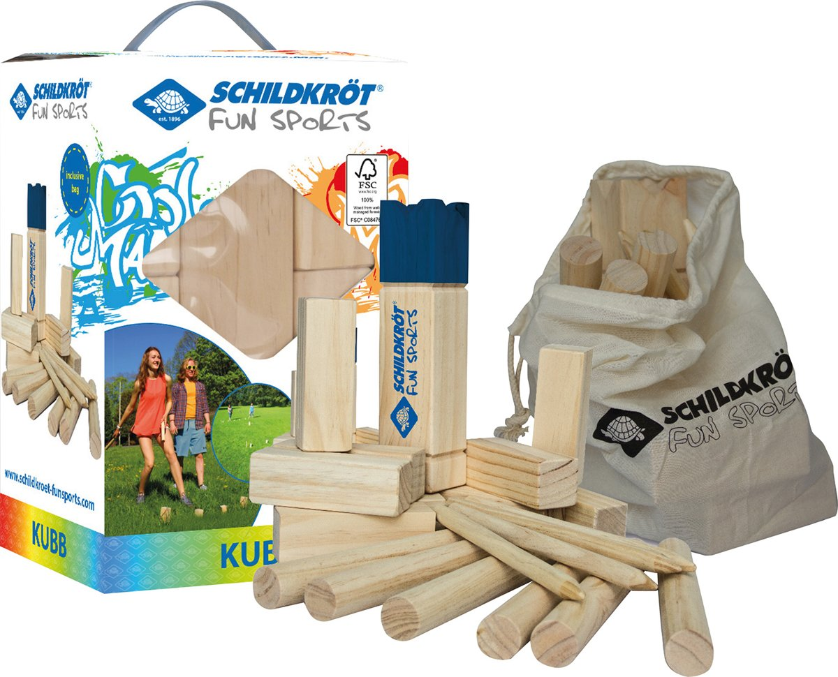 Schildkröt Fun Sports - Kubb Spel van hout - Zeer populair in Scandinavie