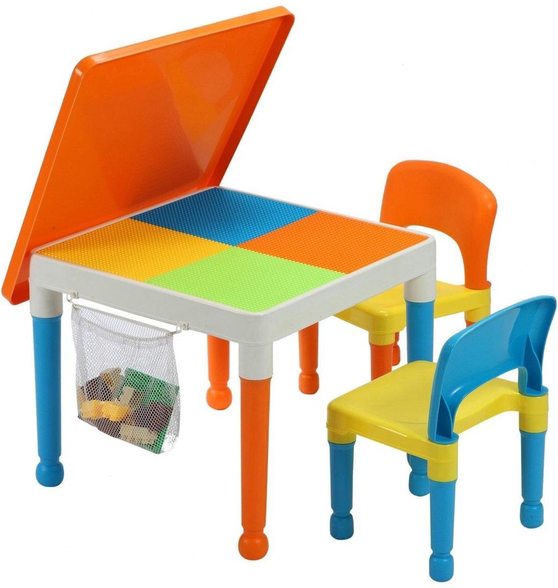 Multifunctionele activiteitentafel en 2 stoelen met opbergvak (652-F) kopen