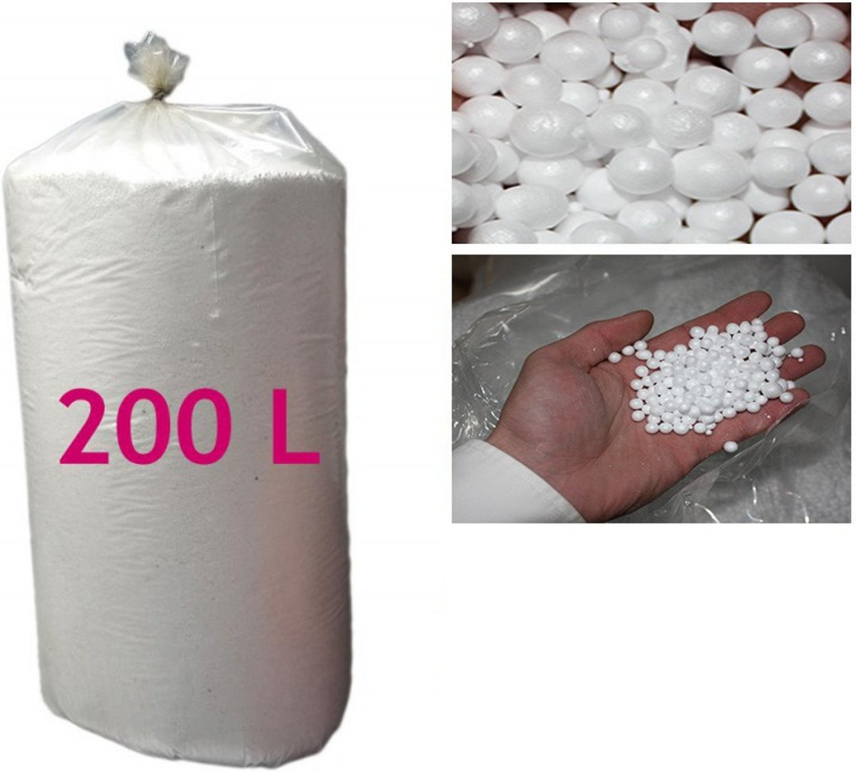 Zitzakvulling EPS PARELS 200 Liter *Nergens Goedkoper* kopen