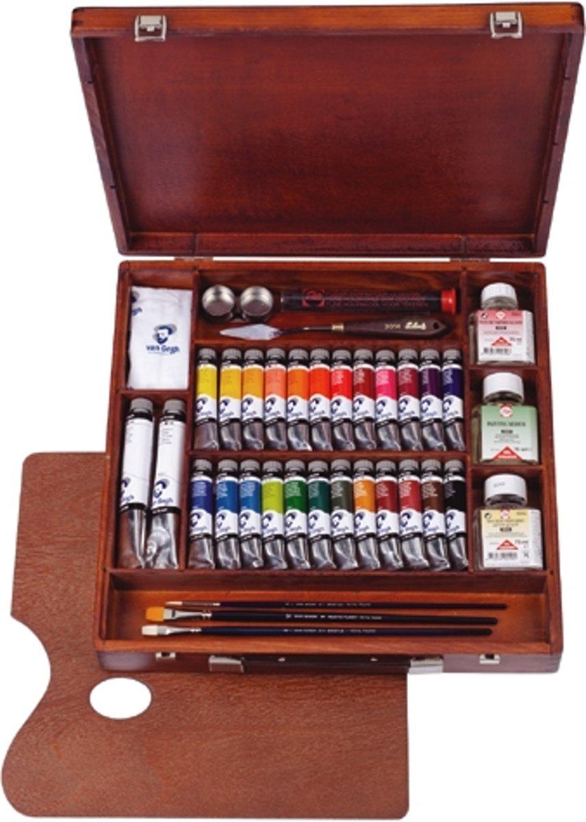 Van Gogh olieverf kist 26 tubes met accessoires - Expert kopen