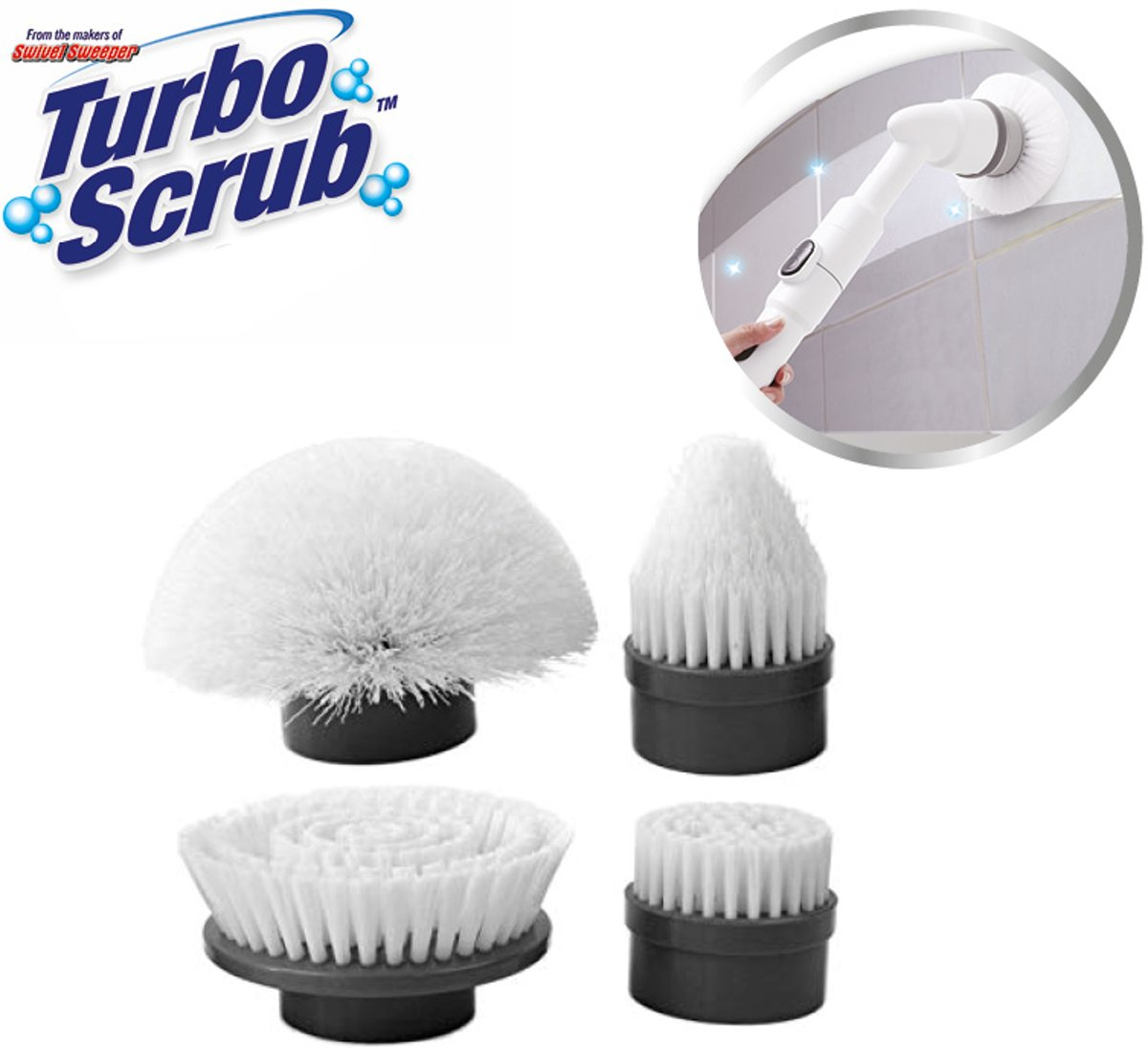 Turbo Scrub - Recharge Kit - 4 Extra Borstels - Best of TV kopen