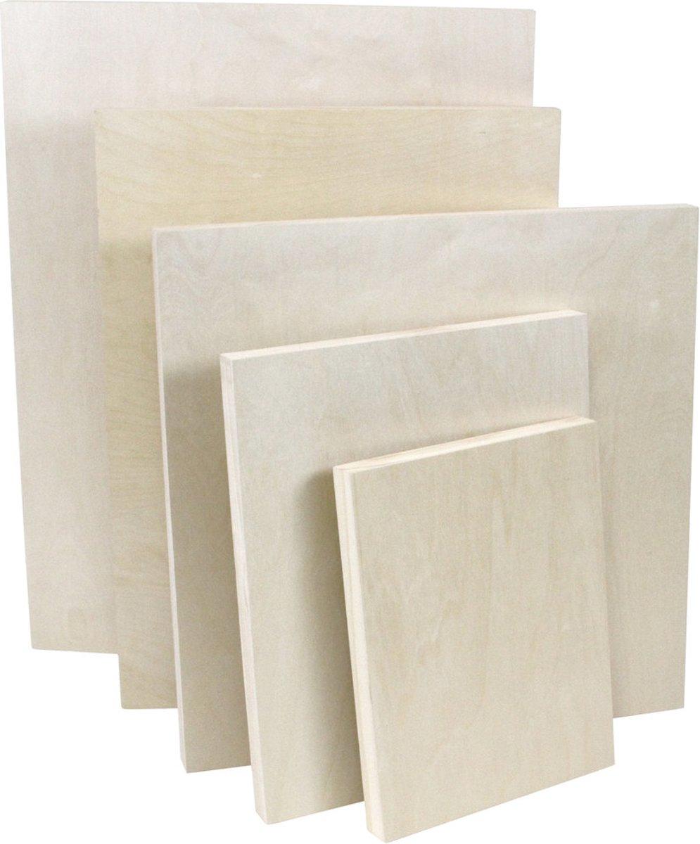 2x Houten schilderspaneel schildersdoek 60 x 60cm kopen
