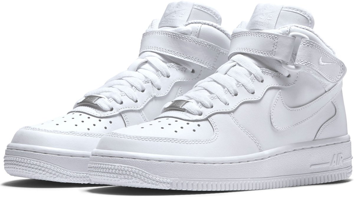 Nike Air Force 1 Mid (GS) WhiteWhite Sneakers Kinderen 314195 113