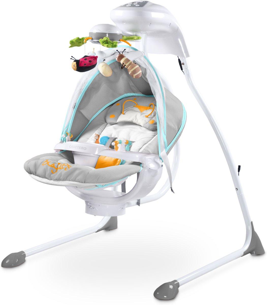 Baby Schommelstoel Caretero Bugies grijs, geschikt voor newborns! kopen