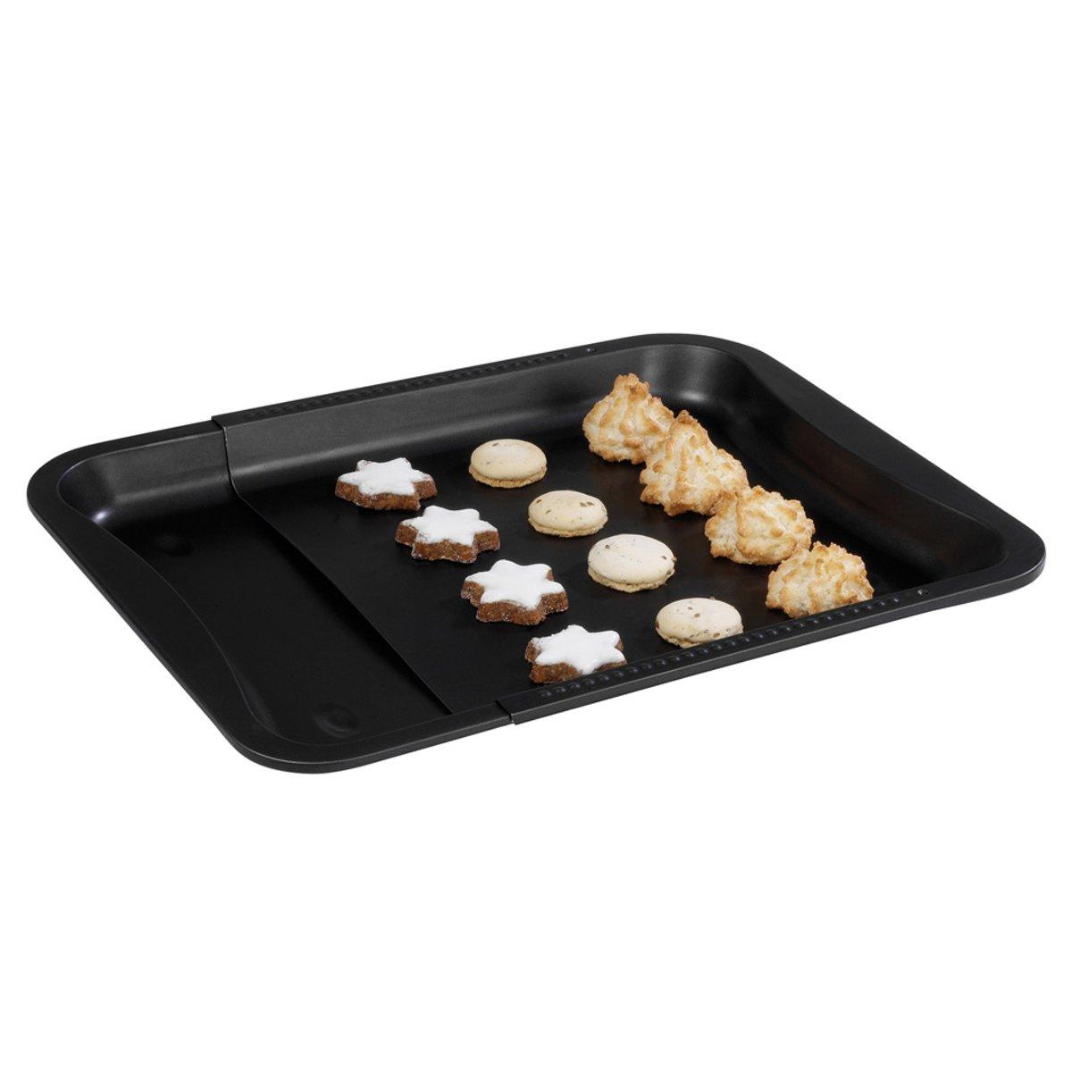Zenker deluxe Bakplaat oven - uitschuifbaar - Universueel 33 cm x 36,5-52cm - Teflon Anti aanbaklaag kopen