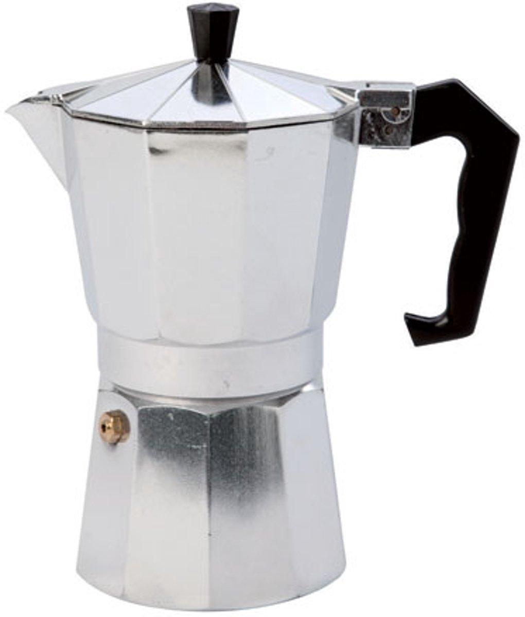 Espressomaker aluminium 6 kops kopen